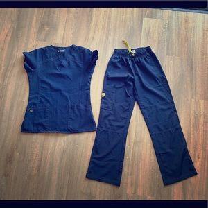WonderWink navy blue scrubs
